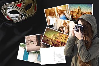 Postales personalizadas vacaciones en Venecia